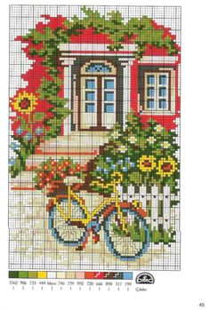 Thrilling Designing Your Own Cross Stitch Embroidery Patterns Ideas. Exhilarating Designing Your Own Cross Stitch Embroidery Patterns Ideas. Cross Stitch House, Cross Stitch Needles, Cross Stitch Charts, Cross Stitch Designs, Cross Stitch Patterns, Cross Stitching, Cross Stitch Embroidery, Embroidery Patterns, Cross Stitch Landscape
