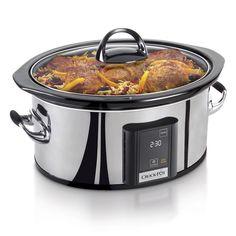 Shop the Crock-Pot® Countdown Touchscreen Digital Slow Cooker, Silver at…