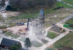 St Lambertus Church (pictured) was torn down by RWE Power to make way for coal mines despi...
