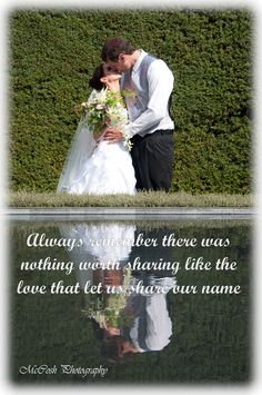 Always remember there was nothing worth sharing like the love that let us share our name. Wedding Sayings, Shots Ideas, Wedding Shot, Always Remember, Engagement Session, Let It Be, Love, Wedding Dresses, Photography