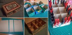 DIY Cardboard Organizer Box - Tutorial ~ GOODIY