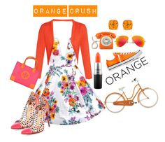 """Orange Crush"" by lilyboutique ❤ liked on Polyvore featuring beauty, Converse, Christian Louboutin, MAC Cosmetics, Oscar de la Renta, GPO, Ray-Ban, Tory Burch, floralprint and orangecrush"