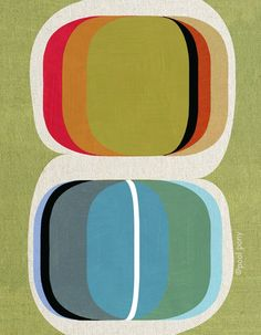 A mid-century print I bought for the new place. Coordinated with the colors in my favorite Rothko print perfectly!
