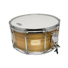 """A.M Drums 14 x 7"""" Bubinga and Tulipwood Snare Drum, 10 Ply Bubinga Shell, 45 Degree In and Outer Edges, finished with an outer Tulipwood Veneer, fitted with Tube Lugs and equipped with Dunnett R4 Strainer and Butt Plate."""