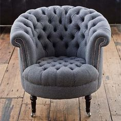Regina Andrew Gray Wool Tufted Tub Chair from Zinc Door. Saved to Home Decor. Shop more products from Zinc Door on Wanelo. Unique Furniture, Sofa Furniture, Furniture Design, Accent Furniture, Furniture Ideas, Tufted Chair, Tub Chair, Bedroom Chair, Sofa Design