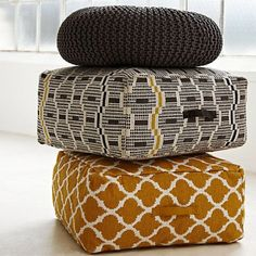 Buy John Lewis Zeometric Pouffe from our Bean Bags & Pouffes range at John Lewis & Partners. Design Furniture, Kids Furniture, Zen Room Decor, Home Decor, Bean Bag Pouffe, Knitted Pouffe, Puff, Soft Seating, Textiles