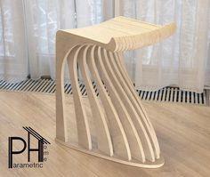 "PH Parametric Home no Instagram: ""Стул барный модель параметрический ,цвет арктика , масло Biofa ,Chair bar parametric model Алматы +77072207261…"""
