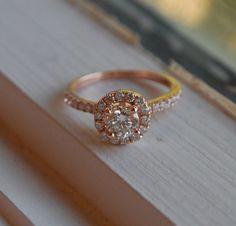Gorgeous! Engagement ring diamond ring 07ct VS1 Champagne by EidelPrecious, $3000.00