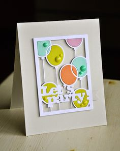 Let's Party Card by Maile Belles for Papertrey Ink (January 2015)
