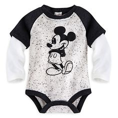 Mickey Mouse Vintage Double-Up Disney Cuddly Bodysuit for Baby | Disney Store