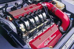 Alfa Romeo V6, Alfa 164, Alfa Cars, Alpha Dog, Automotive Engineering, Race Engines, Top Cars, Car Engine, Exotic Cars
