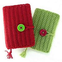 Paperback Book cover with book mark crochet pattern