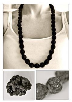 free pattern to knit this beautyful necklace. german