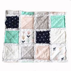 The perfect blend soft woodland fabrics can be found in these cozy handmade Raggy quilt for your little misses. Rag Quilt, Quilts, Woodland Fabric, Keepsake Quilting, Little Miss, Cotton Fabric, Cozy, Blanket, Handmade