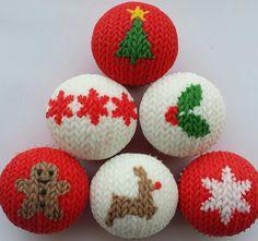 christmas sweater cupcakes