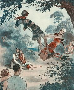 Illustration by Armand Vallee For La Vie Parisienne 1922
