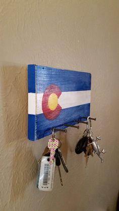 Colorado Flag Key Holder by AllyKatKrafts on Etsy