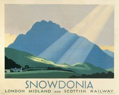 Poster produced for the London Midland and Scottish Railway (LMS) to promote rail travel to Snowdonia in Wales Canvas Print Framed, Poster, Canvas Prints, Puzzles, Photo Gifts and Wall Art Snowdonia, Conway Castle, British Travel, National Railway Museum, Visit Wales, Railway Posters, Train Posters, Funny Posters, Art Posters