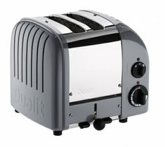 Cobble grey 2 Slice Toaster | NewGen - Traditional Compact Toaster From Dualit