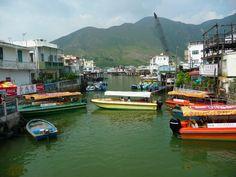 Tai O fishing village on Lantau Island.