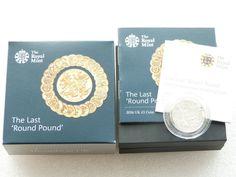 2016 Last Round Pound Piedfort £1 One Pound Silver Proof Coin Box Coa