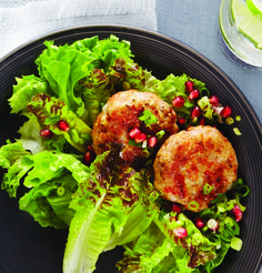 Shrimp Cakes with Pomegranate Salsa - Clean Eating - Clean Eating
