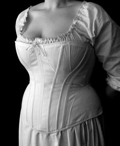 Plus Size c. 1890 Victorian Corset in cotton and brocades