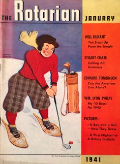 The Rotarian Magazine Jan 1941 Golf Cover