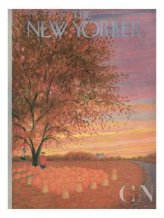 OCTOBER  The New Yorker Cover - October 31, 1953 Poster Print by Edna Eicke at the Condé Nast Collection