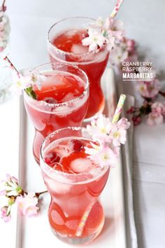 Cranberry raspberry margaritas: Photography: Valley & Co. - http://www.valleyandco.com/