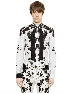 GIVENCHY BANDS ON PRINTED COTTON POPLIN SHIRT £535.00 GBP.