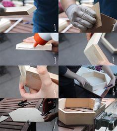 DIY Möbel – Wabenregal ganz leicht selbermachen! – TRYTRYTRY Honeycomb Shelves, Cabin Ideas, Diy Furniture, Shelf, Decoration, How To Make, Diy Furniture Easy, Bricolage, Diy Wall Decor