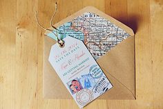 Luggage Tag Stamp Map Travel Magnet Themed by MademoiselleKasia on Etsy