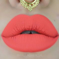 Love this coral lip color