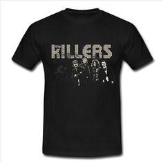 The Killers design graphic black T-shirt