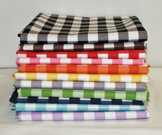 Riley Blake Large Gingham bundle - 11 Half yards #rileyblakedesigns #gingham