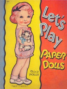 LET'S PLAY PAPER  DOLLS, This Is POLLY, Saalfield
