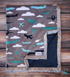 Baby Minky Aviator Blanket Airplane Blanket by HeartstringThings, $35.00 @An Parton This is so cute