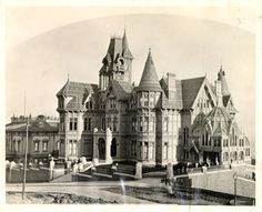 The Mark Hopkins Mansion.  It was completed in 1878.  It survived the 1906 San Francisco earthquake but sadly was destroyed in the fire that followed in the days after.