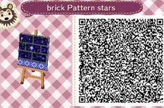 Star Brick Path W/ Blue Tile Boarder Tile#7