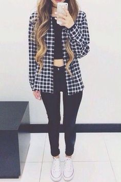 shirt jacket gingham black and white skirt cozy black white