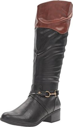Rampage Women's Ilissa Black/Cognac Boot 8 M ** To view further for this item, visit the image link.