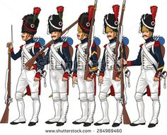 Old Guard chasseurs (2) and Grenadiers (3)