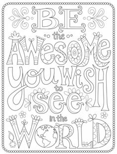 Awesome Coloring Page