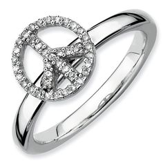 Zales Stackable Expressions 1/10 CT. T.w. Diamond Bow Ring in Sterling Silver dc4bBdz