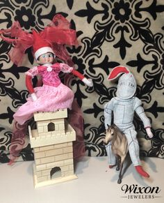 New Ideas for Elf on the Shelf - Christmas Tips The Elf, Elf On The Shelf, Christmas Traditions, Over The Years, Knight, Shelves, Traditional, Disney Princess, Disney Characters