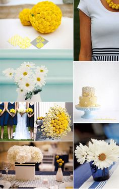 Navy blue and yellow nautical wedding inspiration. love.