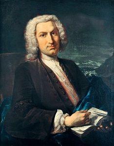 Albrecht von Haller (16 oktober 1708 – 12 december 1777) - Portret door Johann Rudolf Huber, 1736