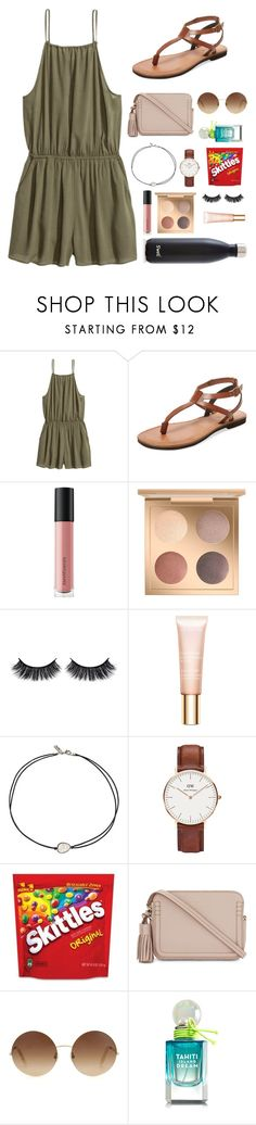 """""""I changed my name...reason in the d"""" by simplyytorii ❤ liked on Polyvore featuring H&M, Firth, Bare Escentuals, MAC Cosmetics, Battington, Clarins, Vanessa Mooney, Daniel Wellington, Kate Spade and Victoria Beckham"""