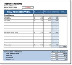 DOWNLOAD: Ideal Cost Worksheet